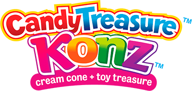 cream cone + toy treasure